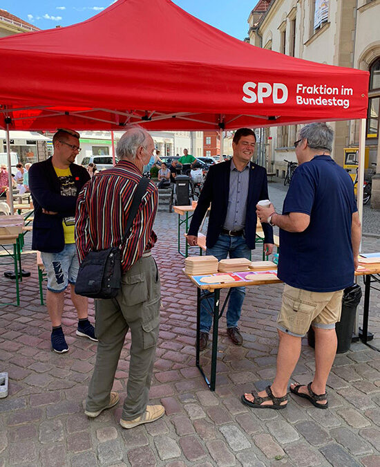 Infostand der SPD in Güstrow